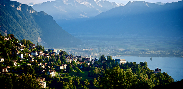 Lake Geneva above Montreaux